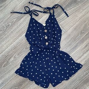 Other - Boutique Girls Navy Romper